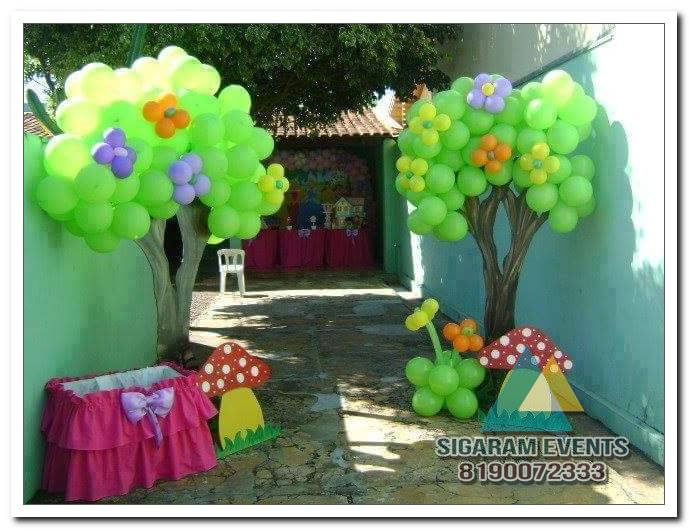 Jungle Tree Themed Birthday Party Entrance Arch Decoration