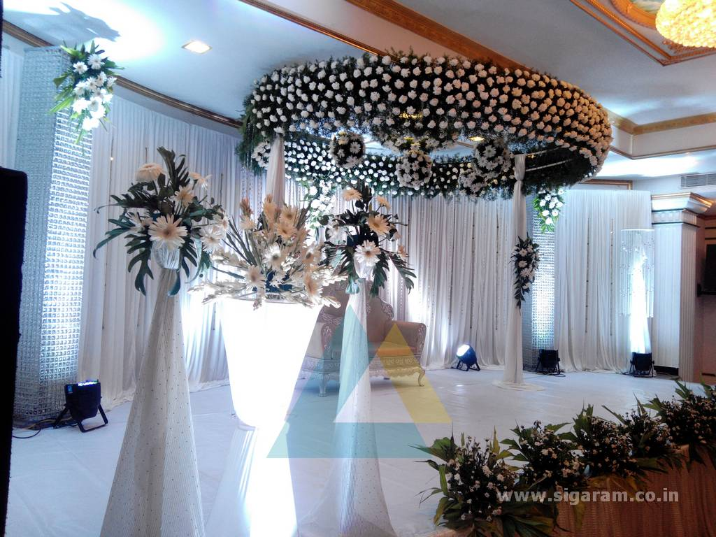 Sakthi suriya wedding event decoration le royal park hotel reception decoration le royal park hotel junglespirit