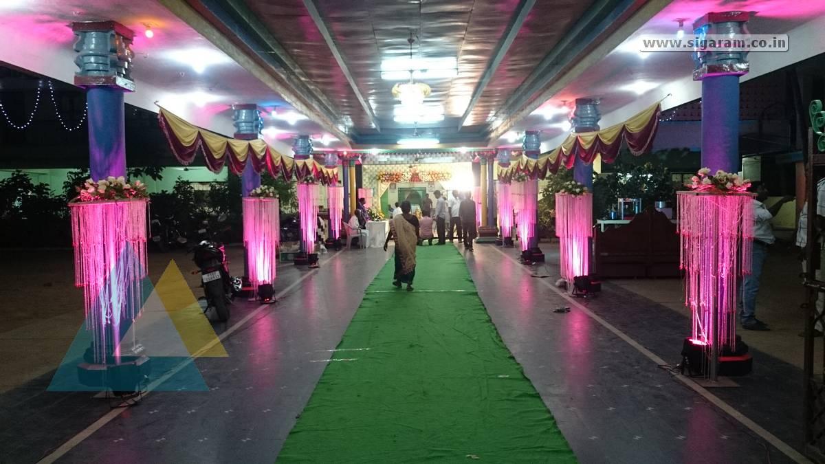 Suresh Sruthi Wedding Decoration At Kasthuri Thirumana Mandapam