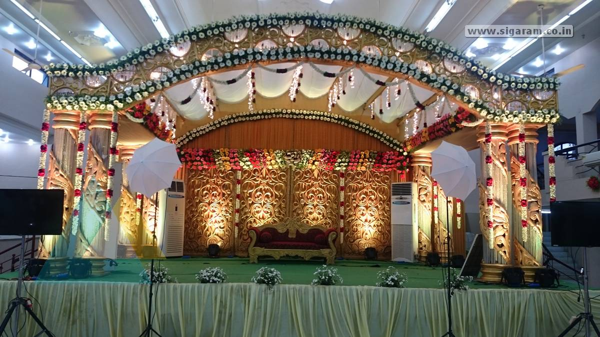 Sundareswaran jayashree wedding event sri subalakshmi mahal wedding stage decoration at subha lakshmi mahal pondicherry junglespirit Choice Image