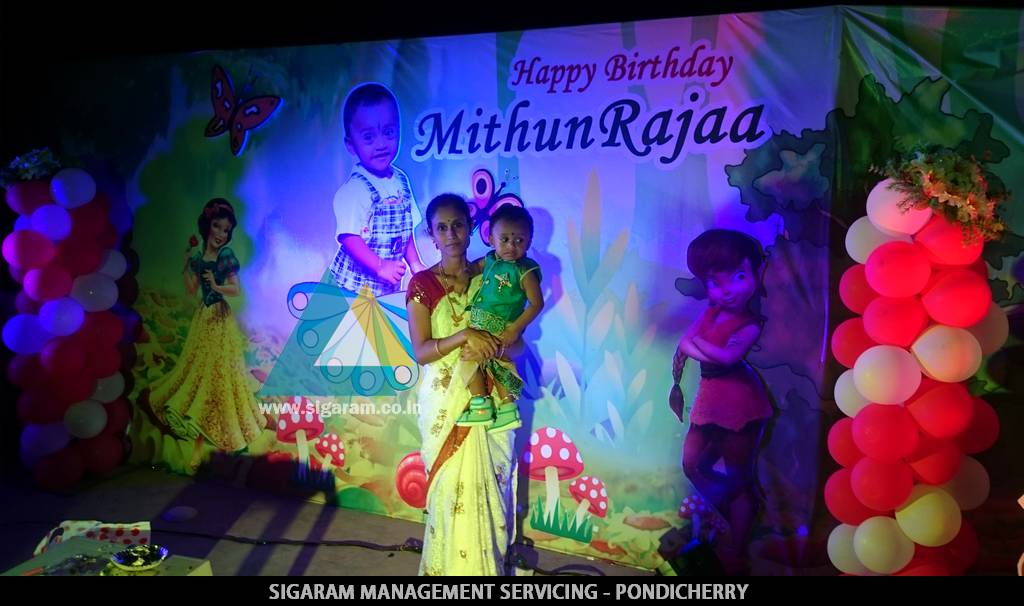 Birthday Party Decoration Of Mithun Rajaa House Roof Top Sigaram Wedding Decorators