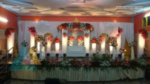 Reception Decoration @ Rajesh Mandapam, Pondicherry 6