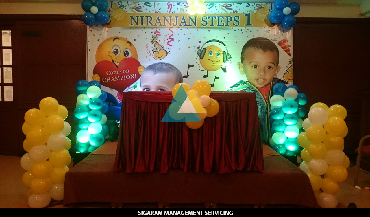 Birthday party balloon decoration annamalai hotel for Balloon decoration in coimbatore
