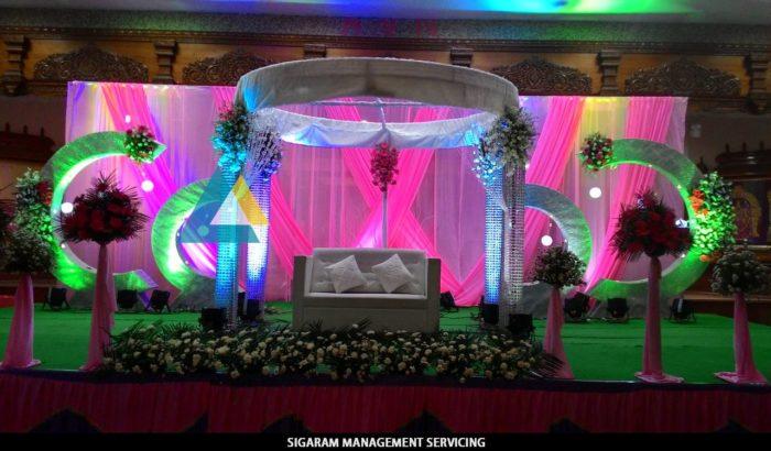 Reception Decoration at AVN Mahal, Chengalpattu