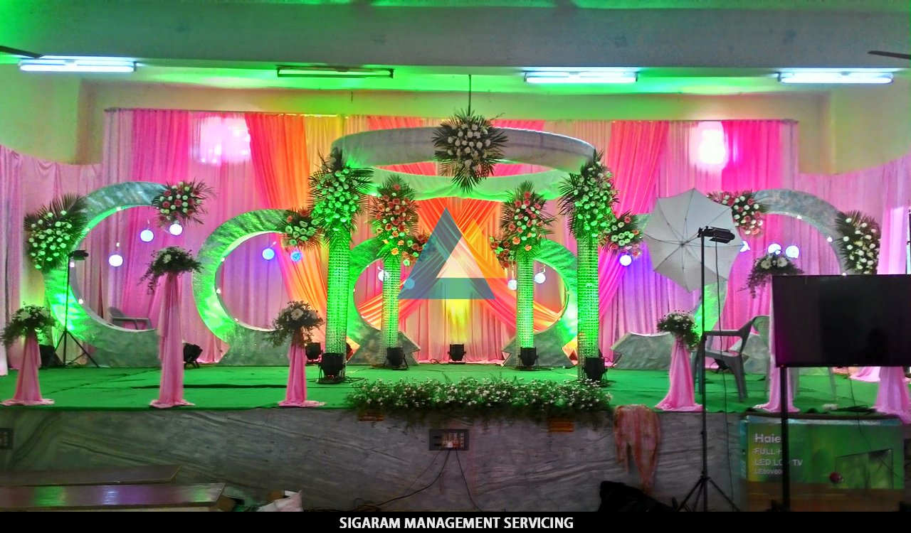 Wedding reception decoration at tittagudi tamilnadu Home hall decoration images
