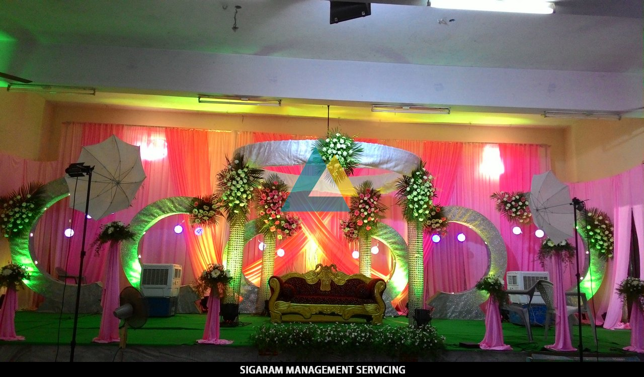 Wedding reception decoration at tittagudi tamilnadu for Decorations for weddings at home