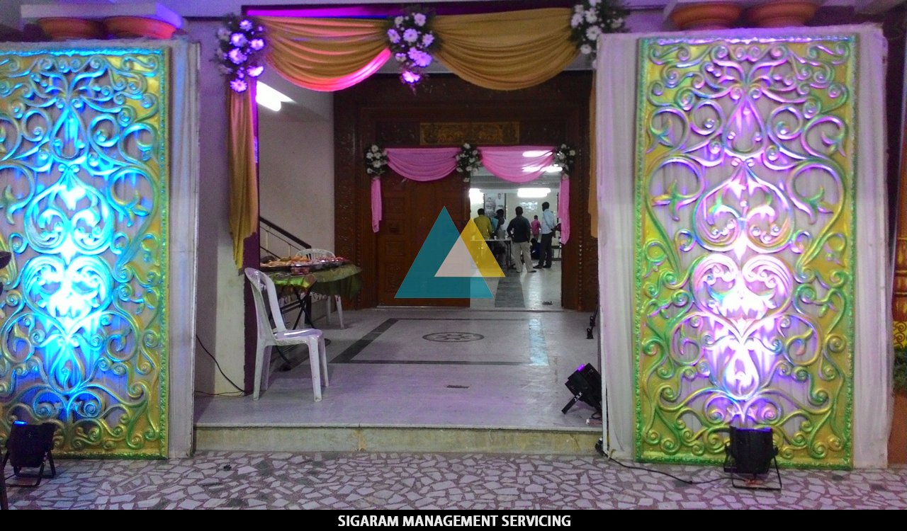Wedding reception entrance decor - Reception Entrance Decoration At Tittagudi Tamilnadu