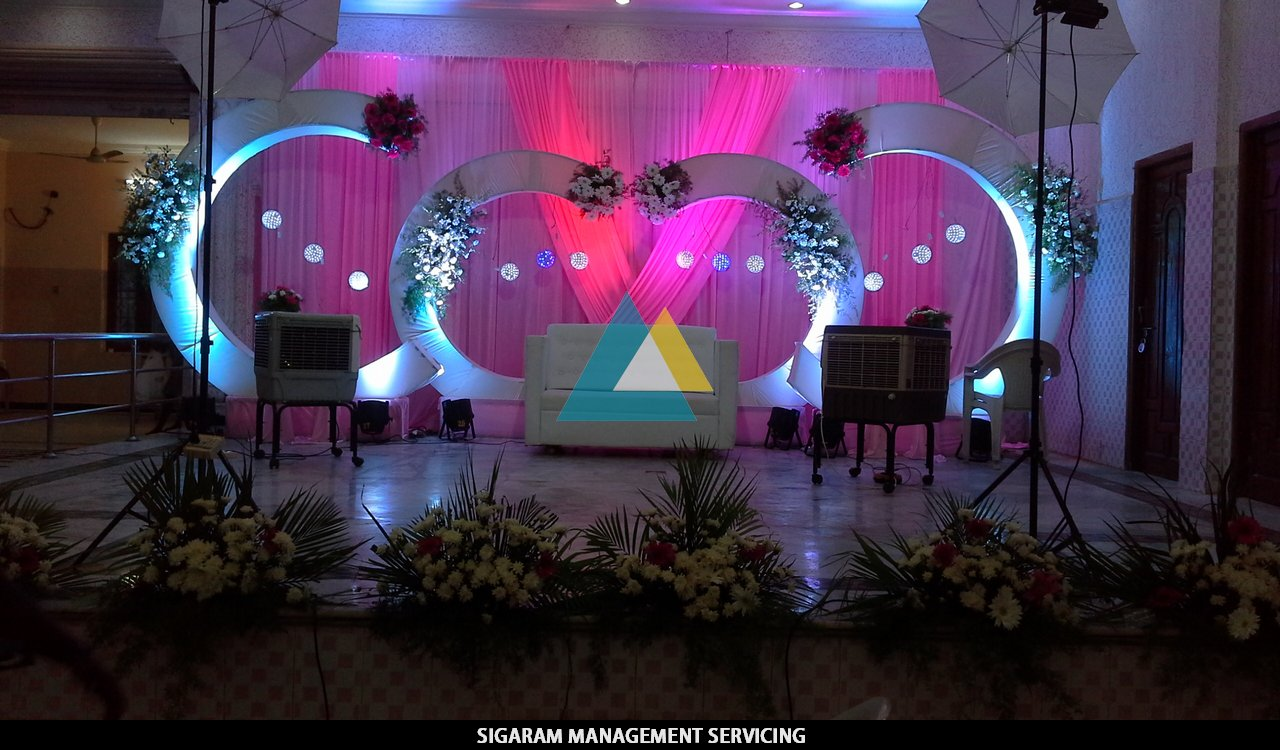 Reception Decoration at VV Arumuga Mandapam, Villupuram