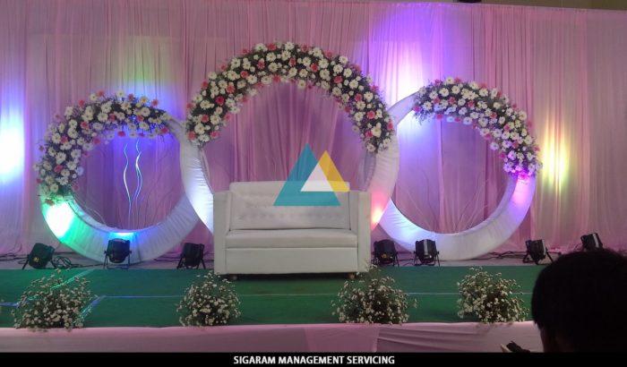 Wedding Decoration at Raja rajeshwari Mandapam, Pondicherry
