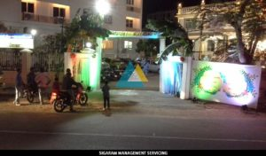 Entrance Arch Wedding Decoration at Raja rajeshwari Mandapam, Pondicherry