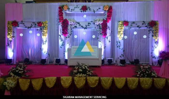 Wedding Reception Decoration at Sai Baba Tirumana mandapam, Pondicherry