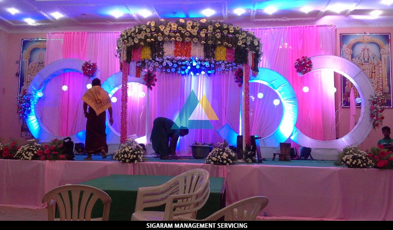 Wedding Decoration At Samikannu Tirumana Mandapam Pondicherry