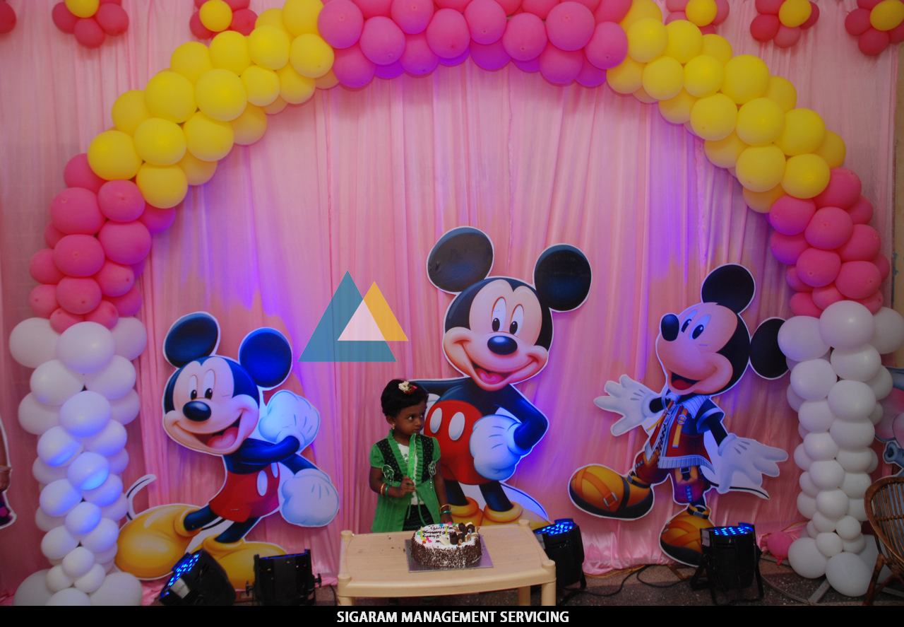 Birthday party decoration at home themed birthday for Balloon decoration ideas for birthday party at home
