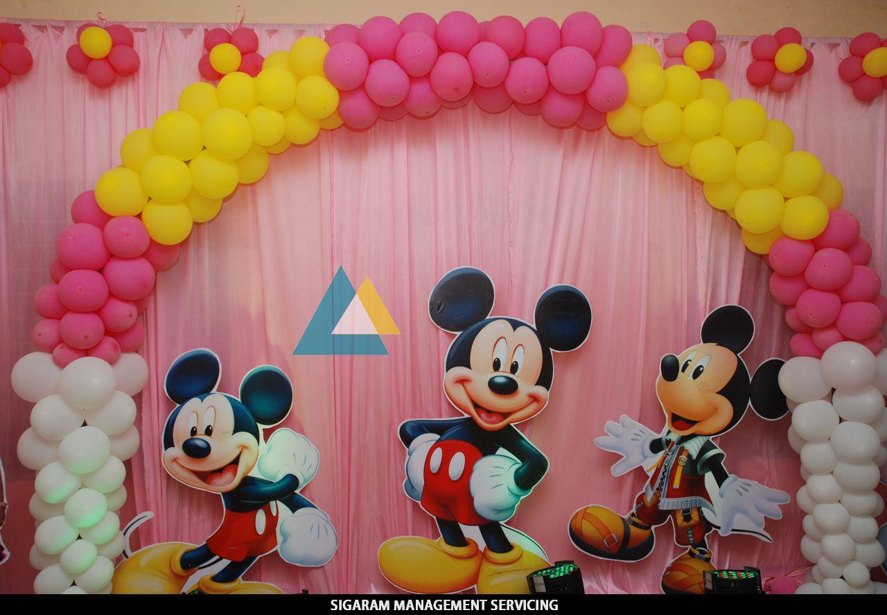 Birthday party decoration at home themed birthday parties in pondicherry wedding decorators for Decoration image