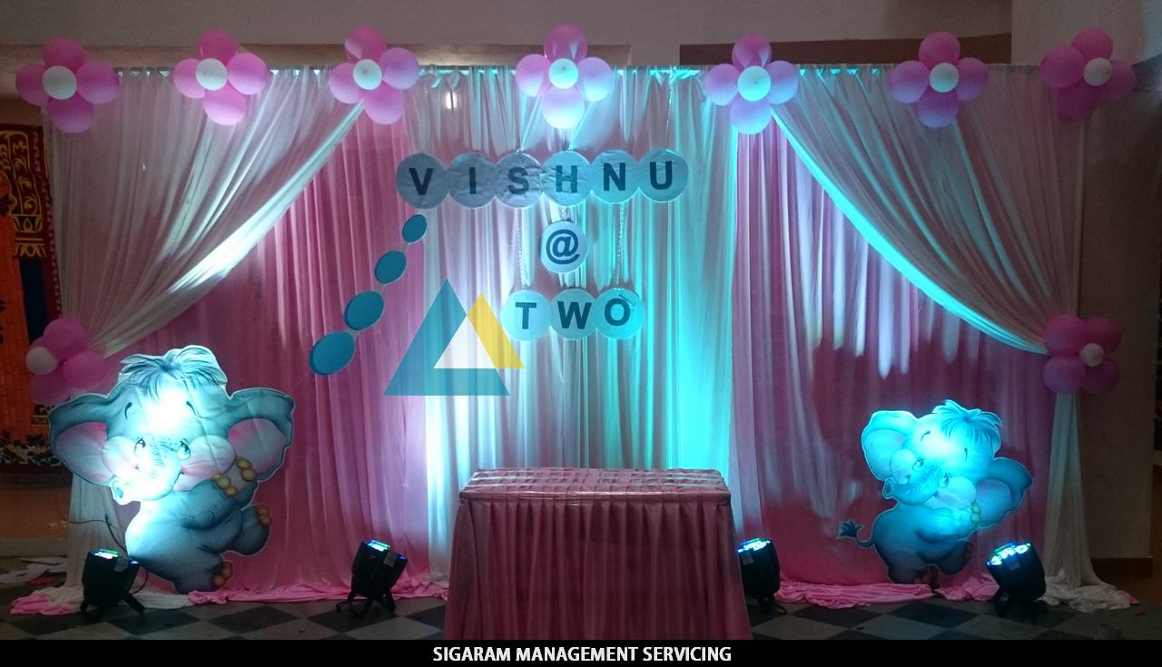Wedding gallery sigaram wedding decorators for Bday decoration