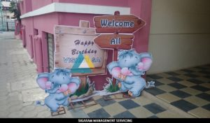 Elephant theme Birthday Party decoration at Pondicherry