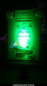 Name Board at Wedding Party Decoration at Bon Sejour (8)