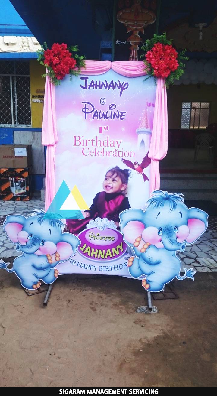 Themed birthday party decoration at pondicherry sigaram for 3d decoration for birthday