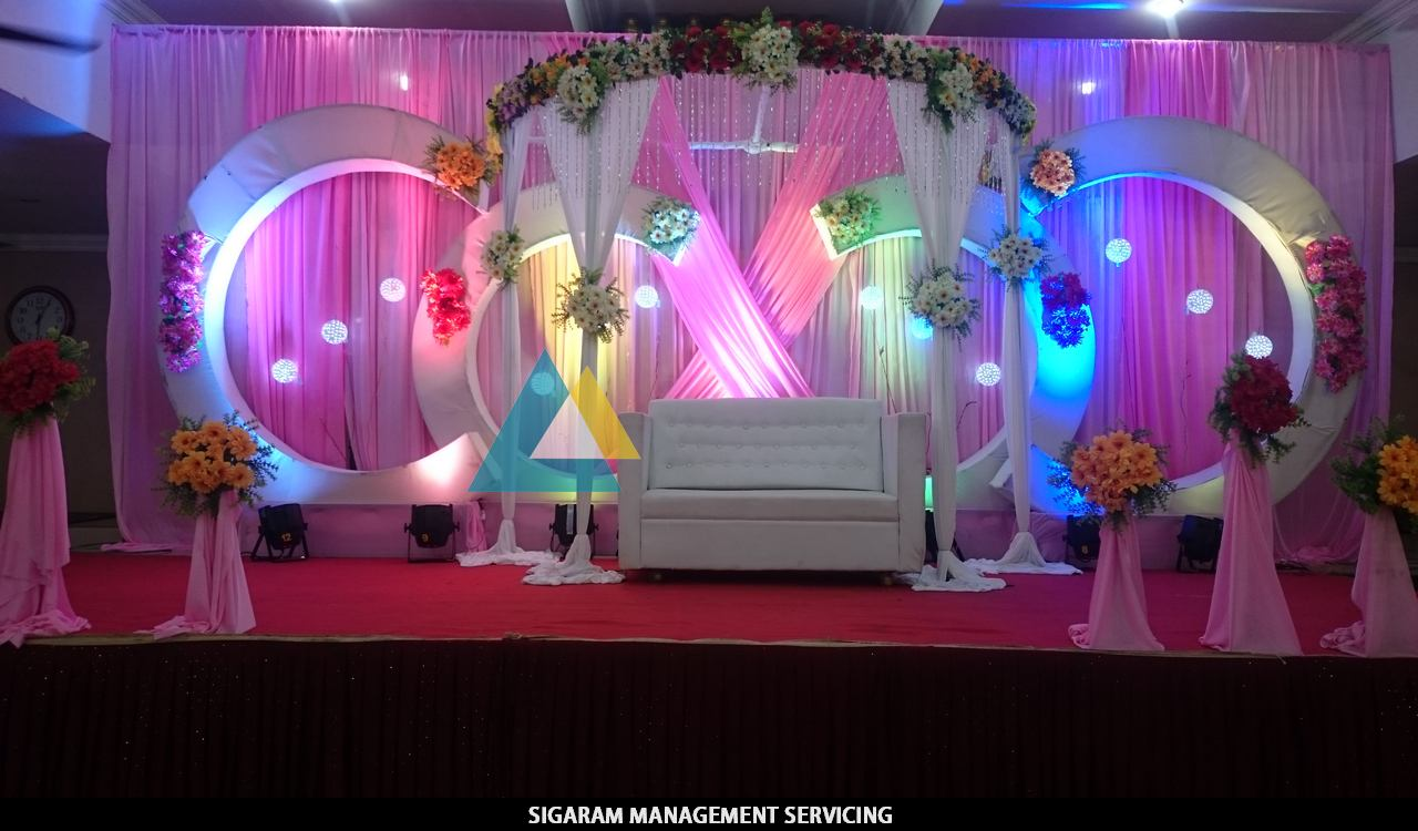 wedding decoration at parvathi thirumana nilaiyam pondicherry sigaram wedding decorators. Black Bedroom Furniture Sets. Home Design Ideas