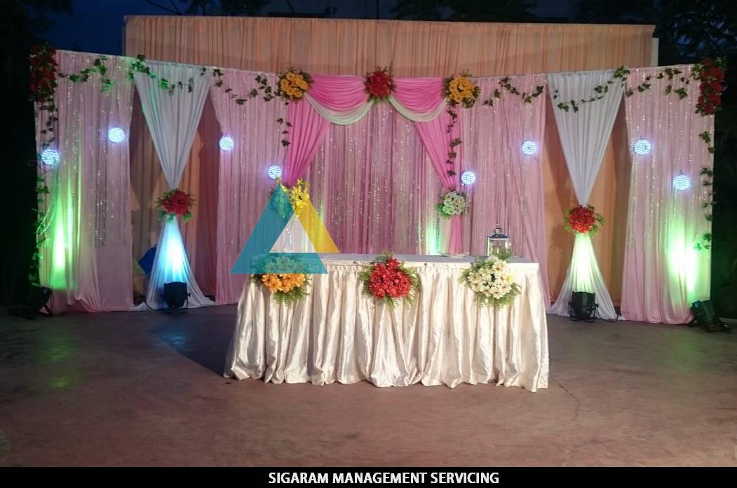Wedding Party Decoration And Lightings At Hotel Bon Sejour