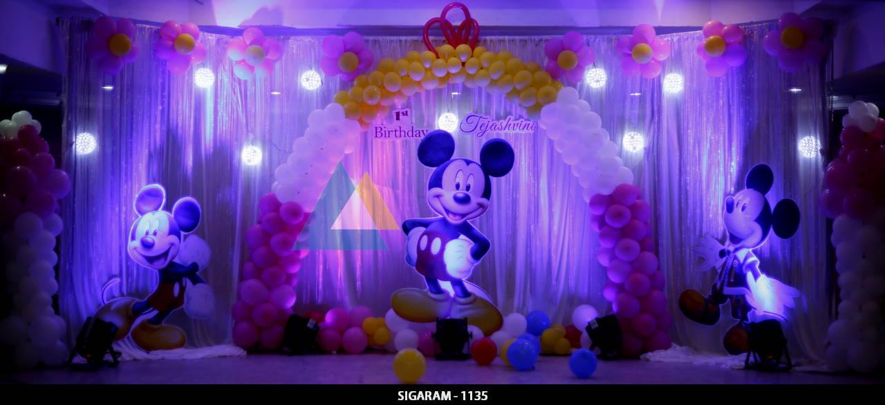 Themed birthday celebration at ram international hotel for International decor lights