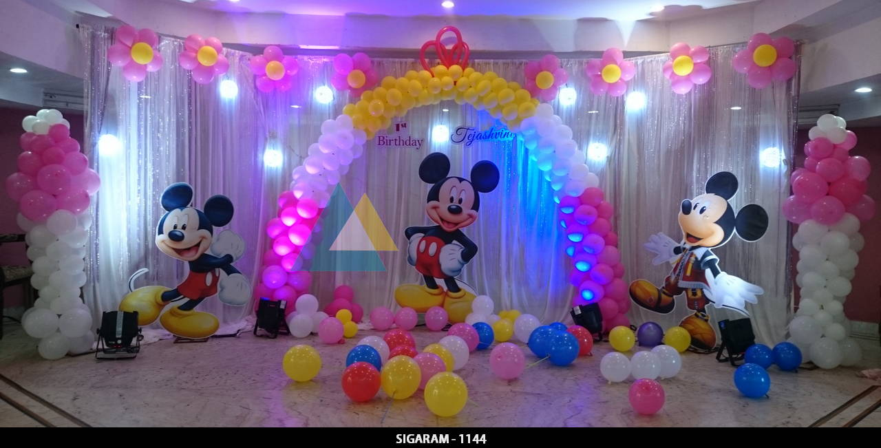 Themed birthday celebration at ram international hotel for International party decor