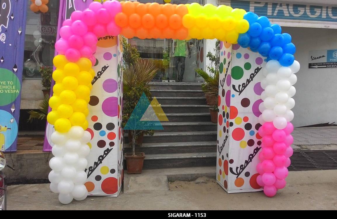 Wedding gallery sigaram wedding decorators for Balloon decoration in coimbatore