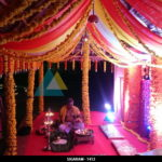 Outdoor Engagement Decoration done at Prince Park Resort, Pondicherry