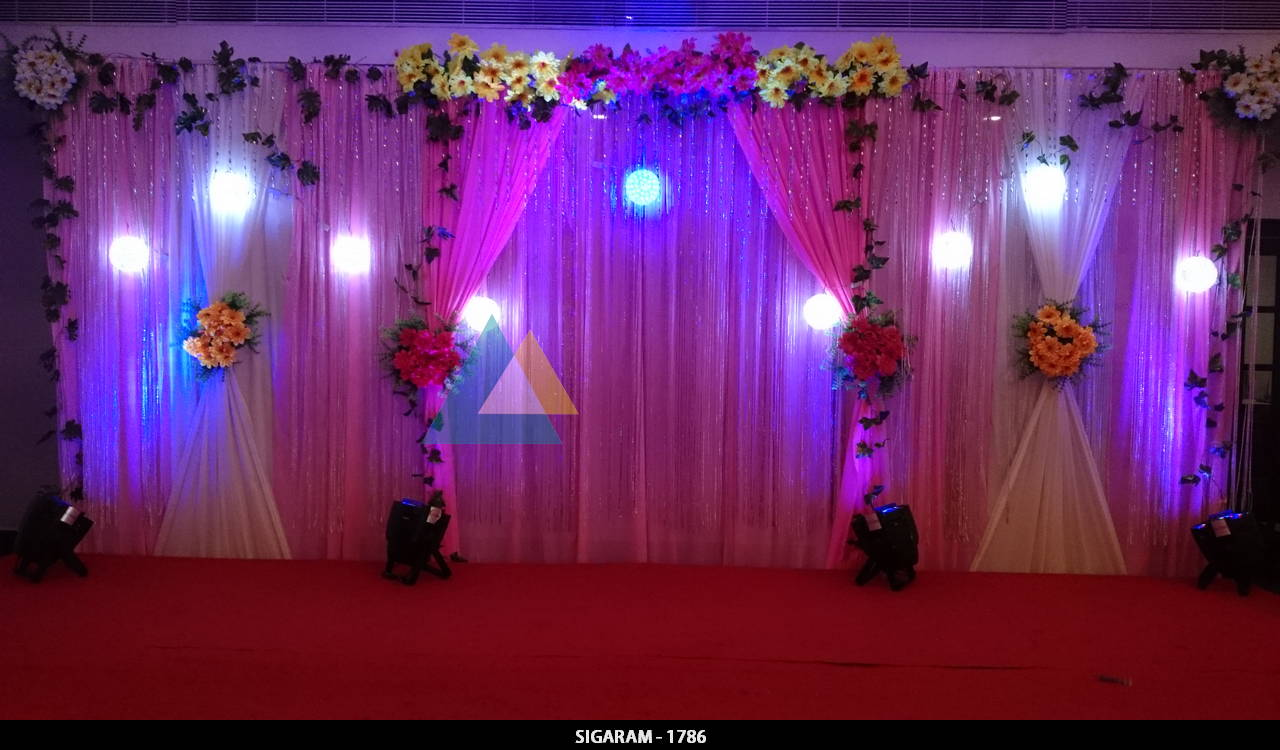 Engagement decoration done at hotel bon sejour for Hotel decor items