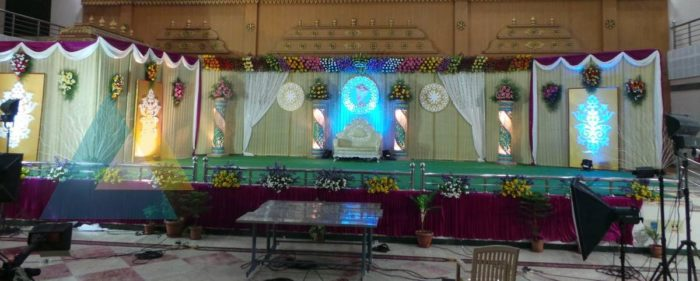 Reception Decoration at Adigalar Mandapam