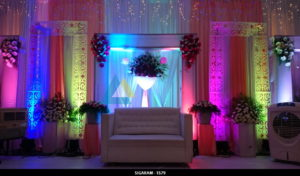 Reception Decoration at NT Mahal Pondicherry