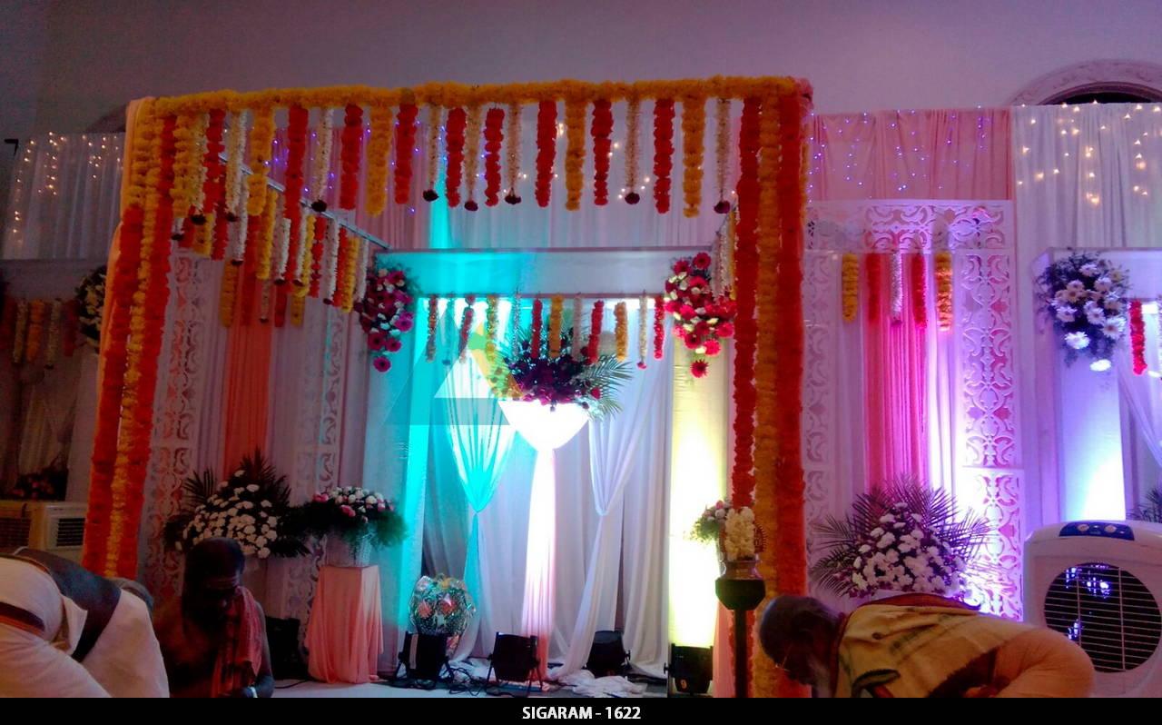 Wedding Reception Decoration At Nt Mahal Pondicherry Sigaram