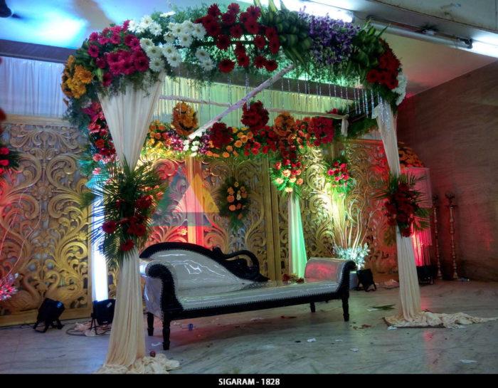 Reception Decoration at Sulochana Bangaru Thirumana Mandapam