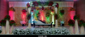 Reception Decoration at Sulochana Bangaru Thirumana Mandapam