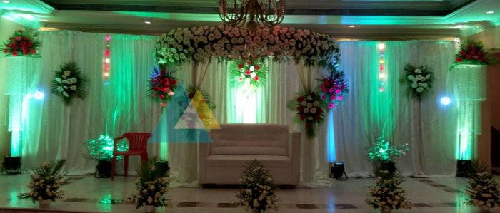 Reception decoration at Surguru Hotel