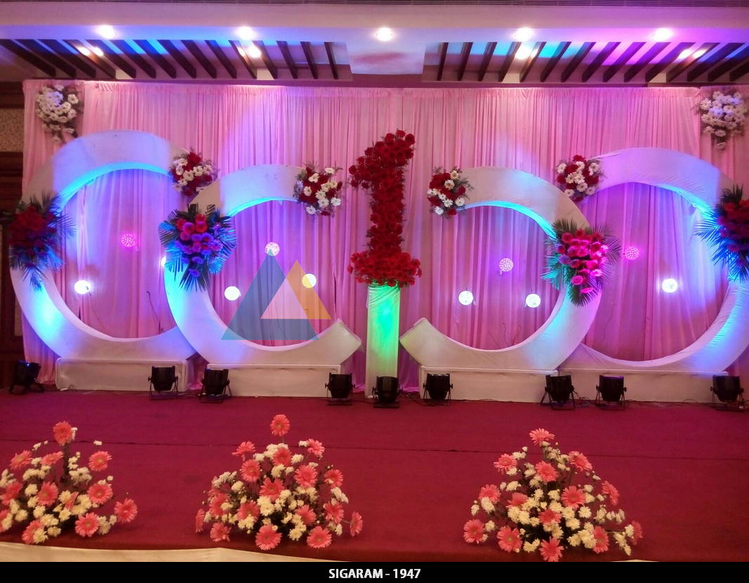 Birthday party decoration at shenbaga hotel and convention centre pondicherry wedding for Decoration image