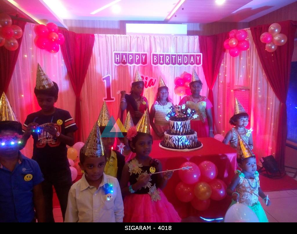 birthday party decoration done at junior kuppanna hotel