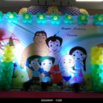 Chota Bheem Themed Birthday Decoration at Kottakuppam, Pondicherry