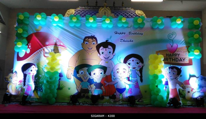 Chota Bheem themed Birthday Decoration (1)