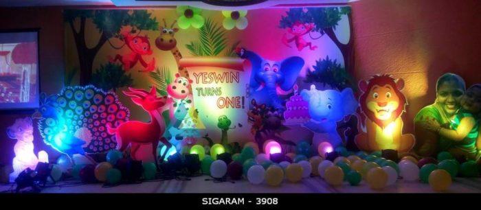 Forest Themed Birthday Decoration at Jayaram Hotel Pondicherry (3)