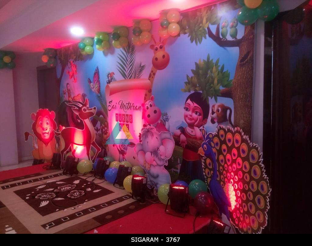 Kanmani Themed Birthday Decoration Done At Hotel Subha Grand Hotel Cuddalore Sigaram Wedding