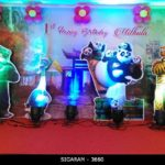 Kung Fu Panda themed ‎Birthday Party Decoration at Sozhia Chettiyar Hall, Pondicherry