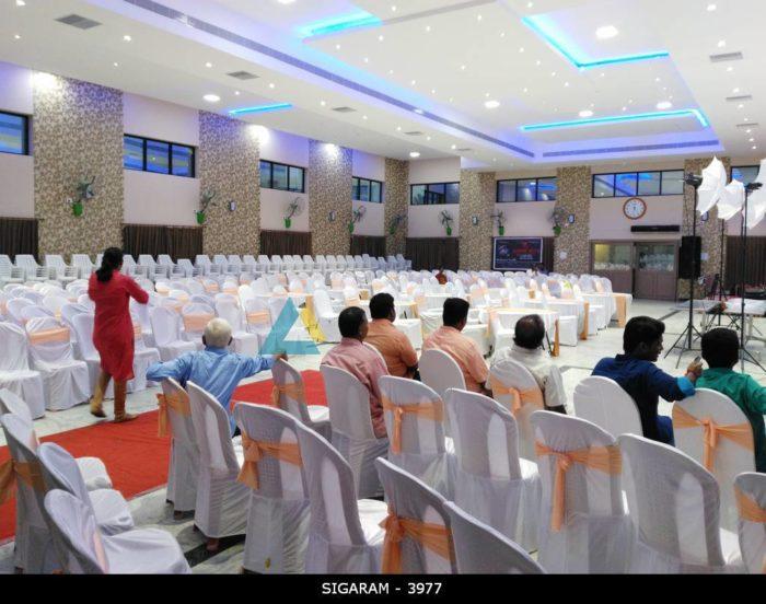 Chair Seating arrangements at Logalakshmi Mahal, Villupuram (9)