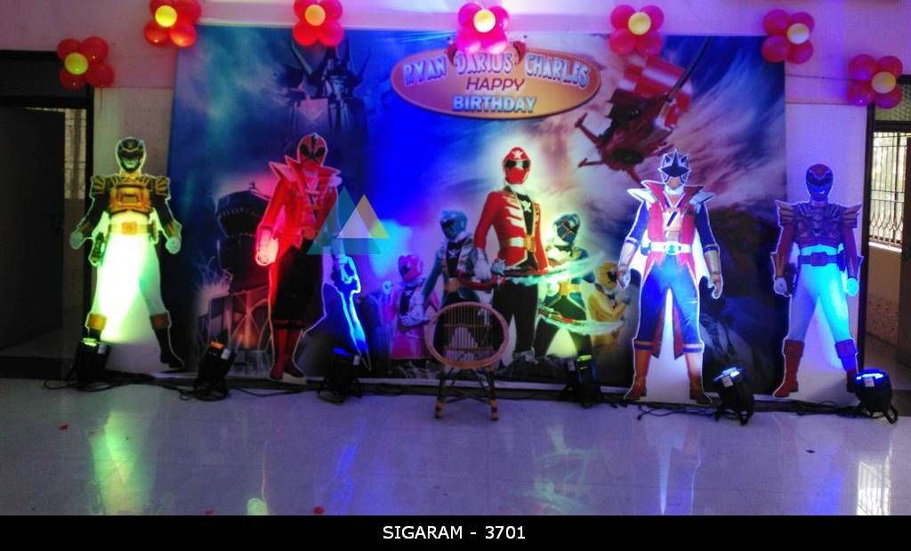 Power Rangers Themed Birthday Decoration At Kurinji Nagar