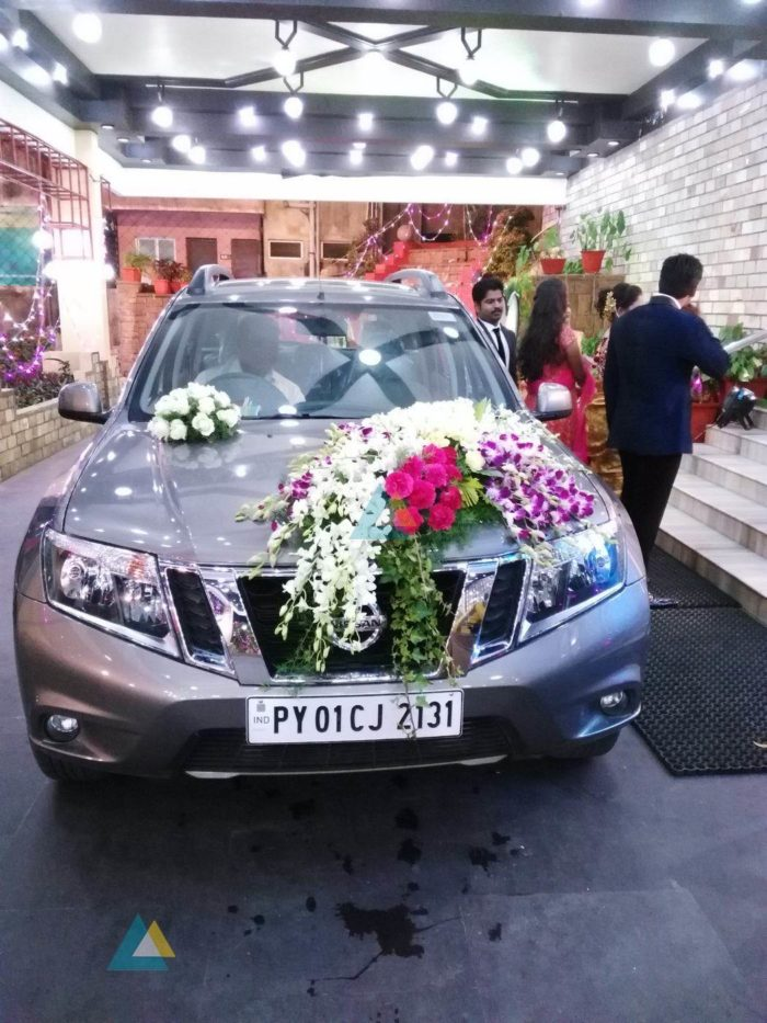 Reception Car Decoration at Jayaram Mandapam Pondicherry (3)