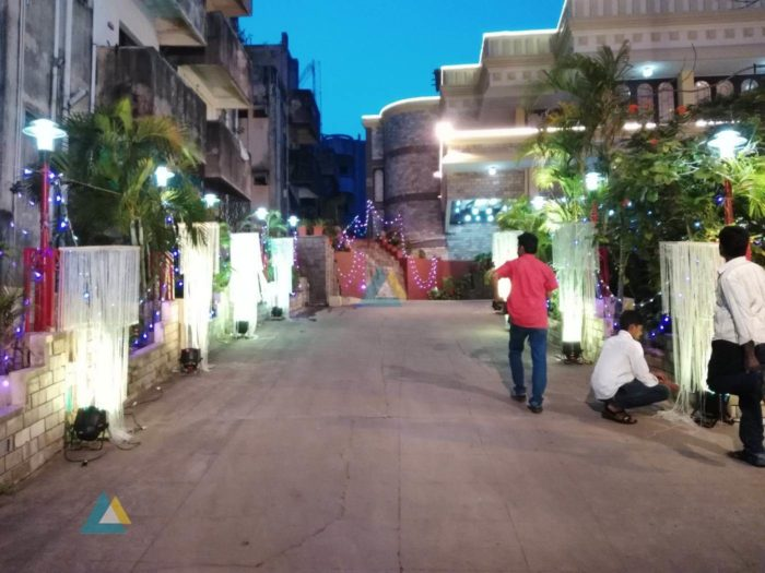 Reception Pathway Decoration at Jayaram Mandapam Pondicherry (1)