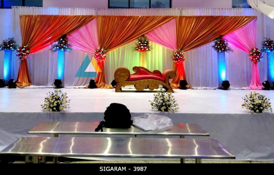 Wedding Reception Decoration At Logalakshmi Mahal Villupuram