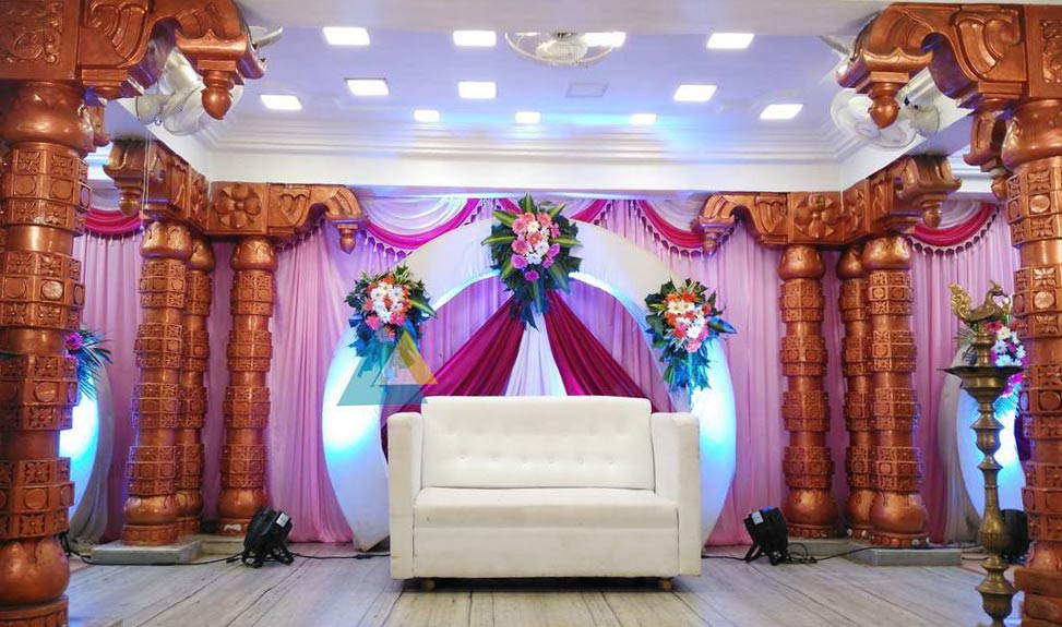 Reception Decoration at Vel Sokkanathan Mandapam, Pondicherry (1)