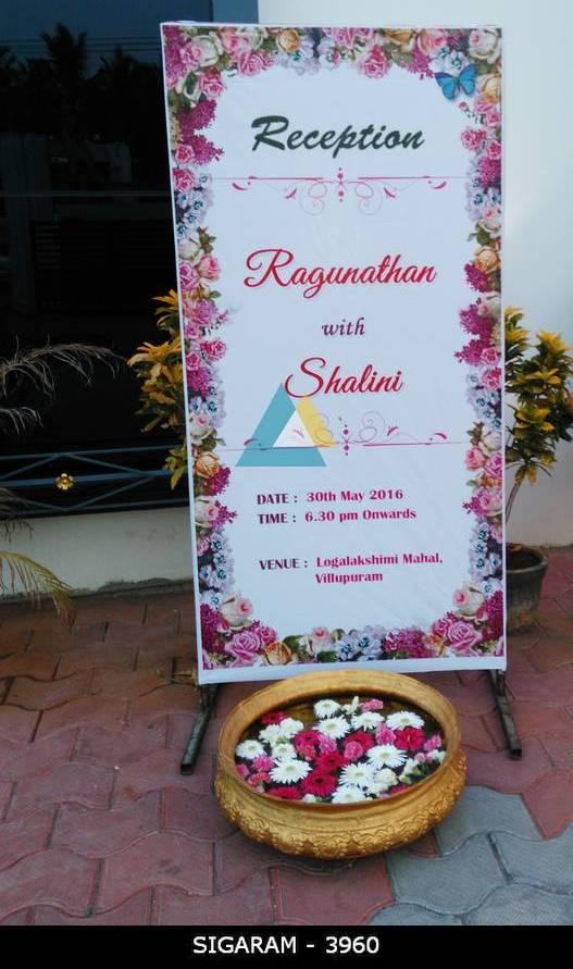 Reception Name board Decoration at Logalakshmi Mahal, Villupuram (7)