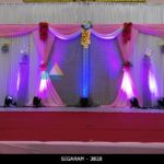Reception decoration done at Kandan Mandapam, Puducherry